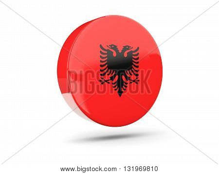 Round Icon With Flag Of Albania