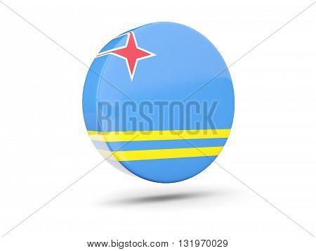 Round Icon With Flag Of Aruba