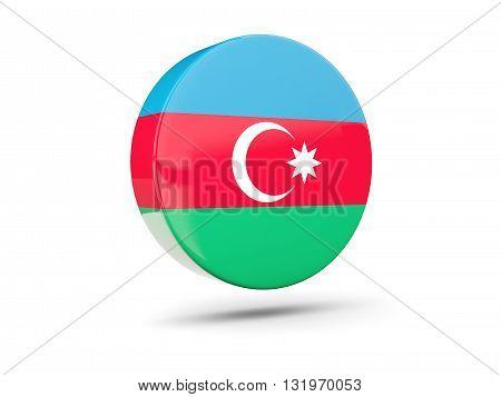 Round Icon With Flag Of Azerbaijan