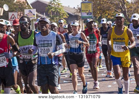 Spectators And Runners At Comrades Marathon In Durban 3