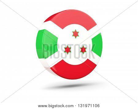 Round Icon With Flag Of Burundi