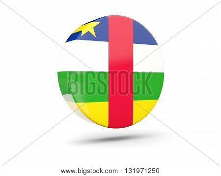 Round Icon With Flag Of Central African Republic