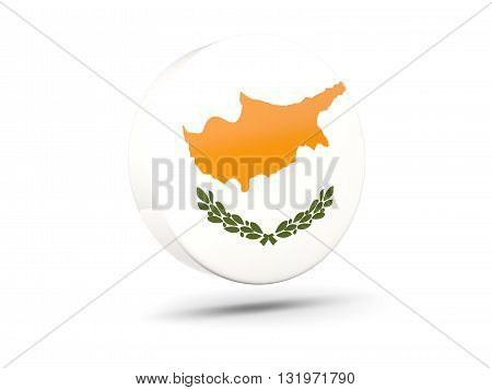 Round Icon With Flag Of Cyprus