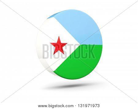 Round Icon With Flag Of Djibouti