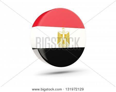 Round Icon With Flag Of Egypt