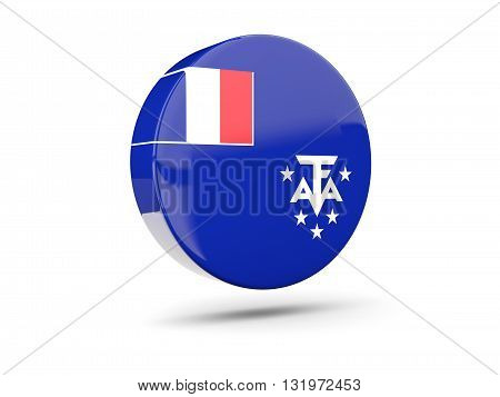 Round Icon With Flag Of French Southern Territories
