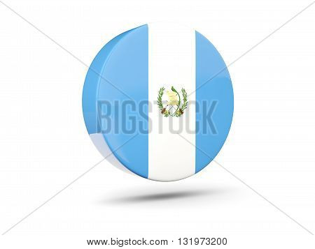 Round Icon With Flag Of Guatemala