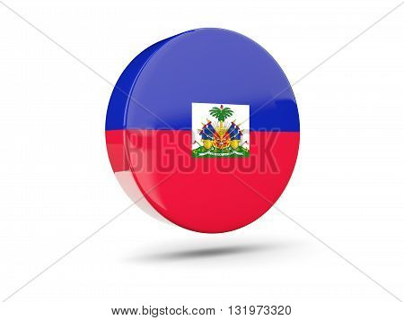 Round Icon With Flag Of Haiti