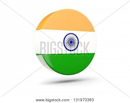 Round Icon With Flag Of India