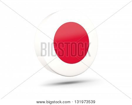 Round Icon With Flag Of Japan