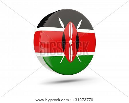 Round Icon With Flag Of Kenya