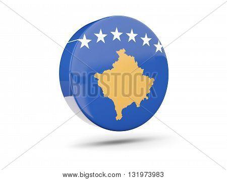 Round Icon With Flag Of Kosovo