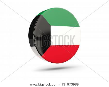 Round Icon With Flag Of Kuwait
