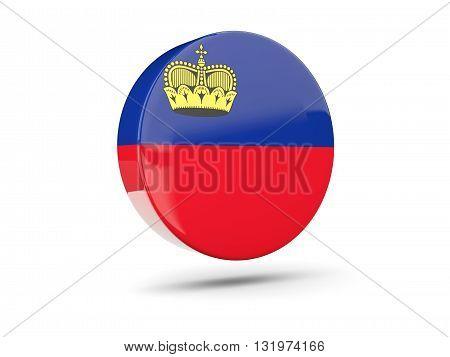 Round Icon With Flag Of Liechtenstein