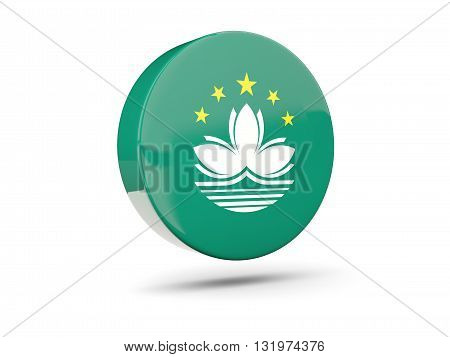 Round Icon With Flag Of Macao