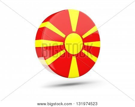 Round Icon With Flag Of Macedonia