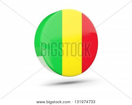 Round Icon With Flag Of Mali