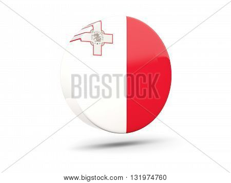 Round Icon With Flag Of Malta