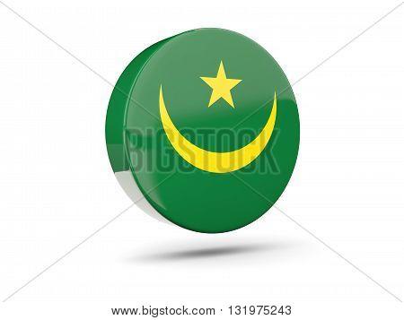 Round Icon With Flag Of Mauritania
