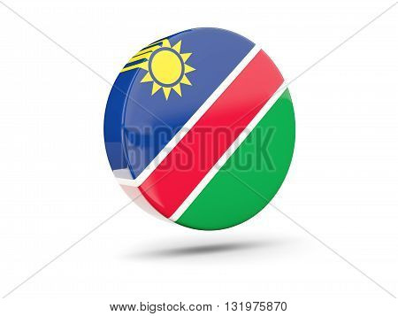 Round Icon With Flag Of Namibia