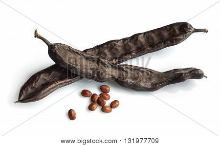 Carob Pods And Seeds