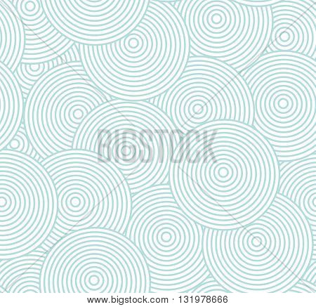 Abstract geometric seamless retro pattern with circles