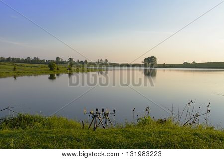 Fishing on beautiful private lake in Ukraine