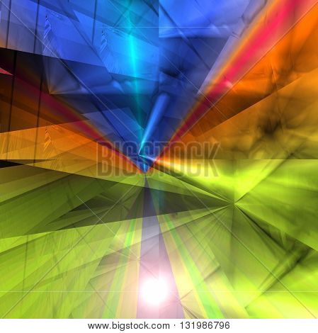 Abstract coloring sunrise gradients background with visual lens flare and illusion effects