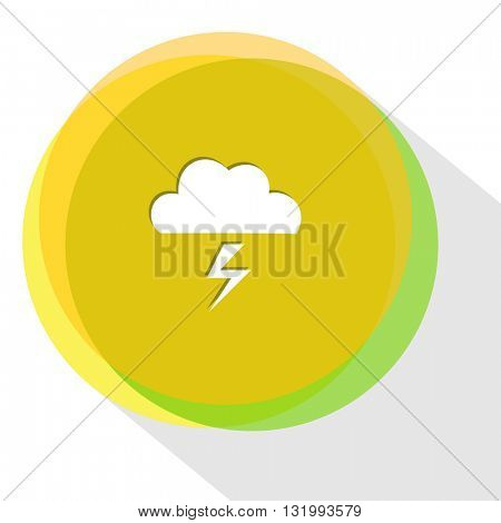 thunderstorm. Internet template. Vector icon.