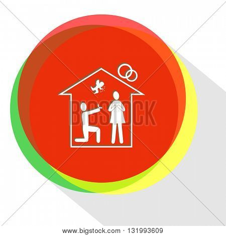 home affiance. Internet template. Vector icon.