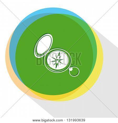compass. Internet template. Vector icon.