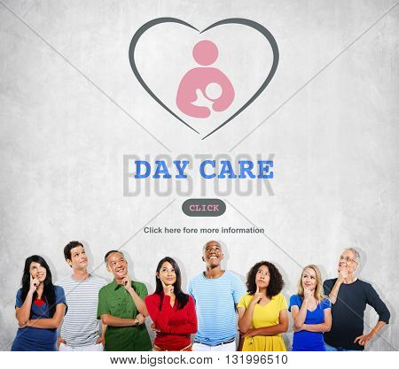 Day Care Babysitter Nanny Nursery Love Motherhood Concept