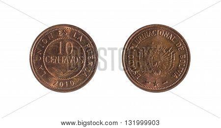 Ten Bolivian Cents