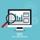 search engine optimization design, vector illustration eps10 graphic poster