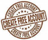 create free account brown grunge round vintage rubber stamp.create free account stamp.create free account round stamp.create free account grunge stamp.create free account.create free account vintage stamp. poster