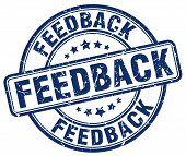 feedback blue grunge round vintage rubber stamp.feedback stamp.feedback round stamp.feedback grunge stamp.feedback.feedback vintage stamp. poster