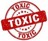 toxic red grunge round vintage rubber stamp.toxic stamp.toxic round stamp.toxic grunge stamp.toxic.toxic vintage stamp. poster