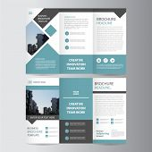 green black triangle business trifold Leaflet Brochure Flyer report template vector minimal flat design set, abstract presentation layout templates a4 size poster