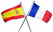 Spanish flag  combined with france flag poster