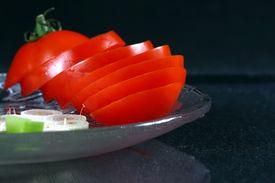 Fresh Slice Of Tomato