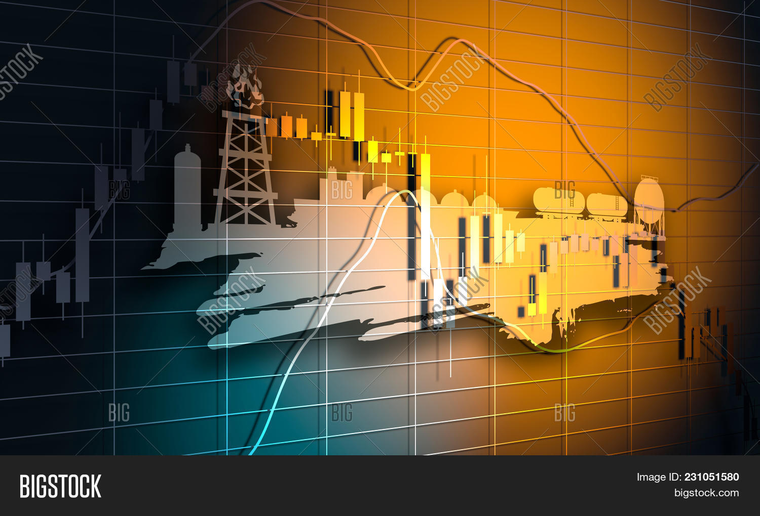 forex candlestick pattern  trading chart concept  financial market chart   energy and power icons