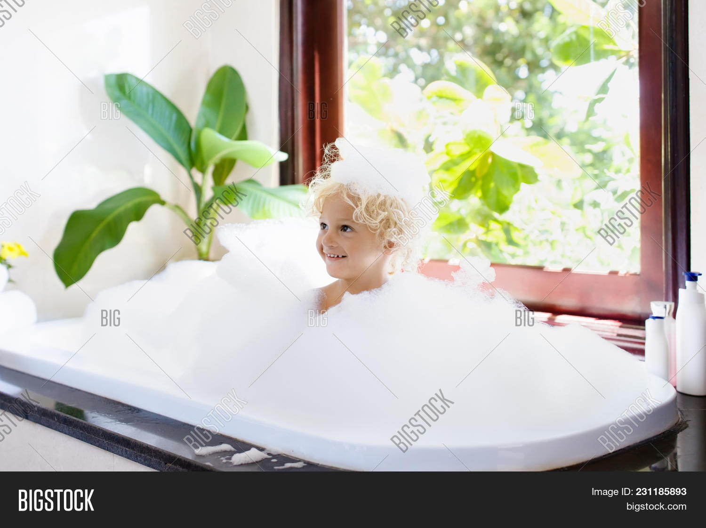 Child Bubble Bath. Kid Image & Photo (Free Trial) | Bigstock