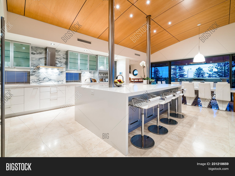 Luxury Kitchen Stone Image Photo Free Trial Bigstock