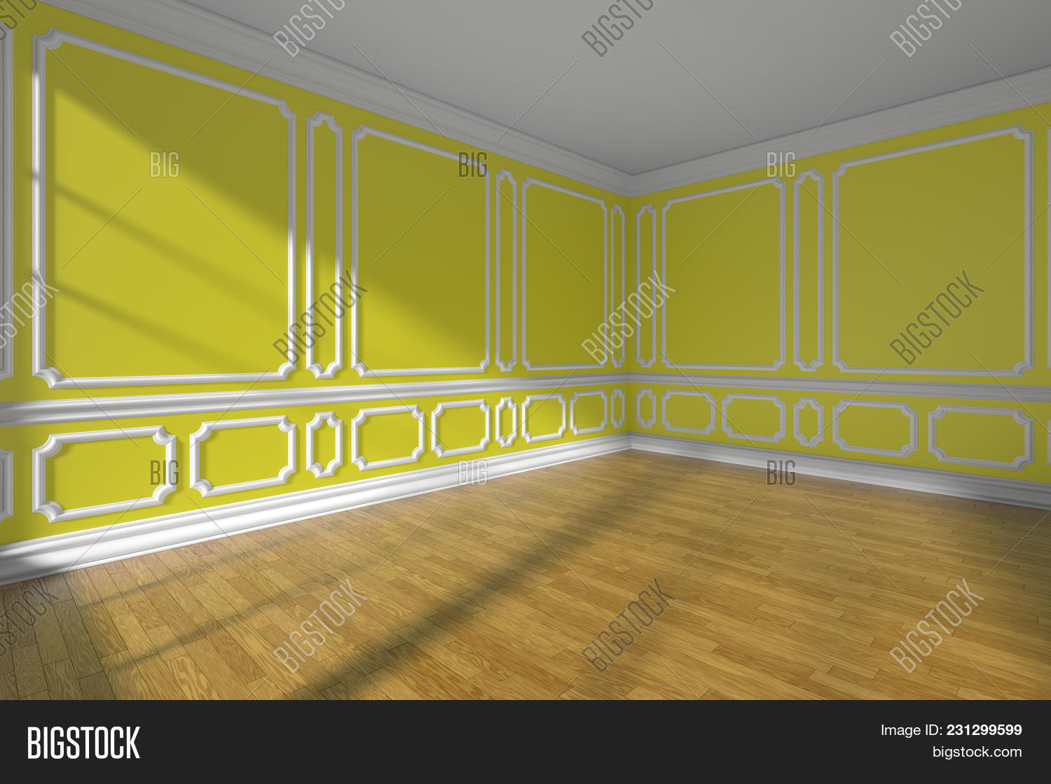 Yellow Empty Room Wall Image & Photo (Free Trial) | Bigstock