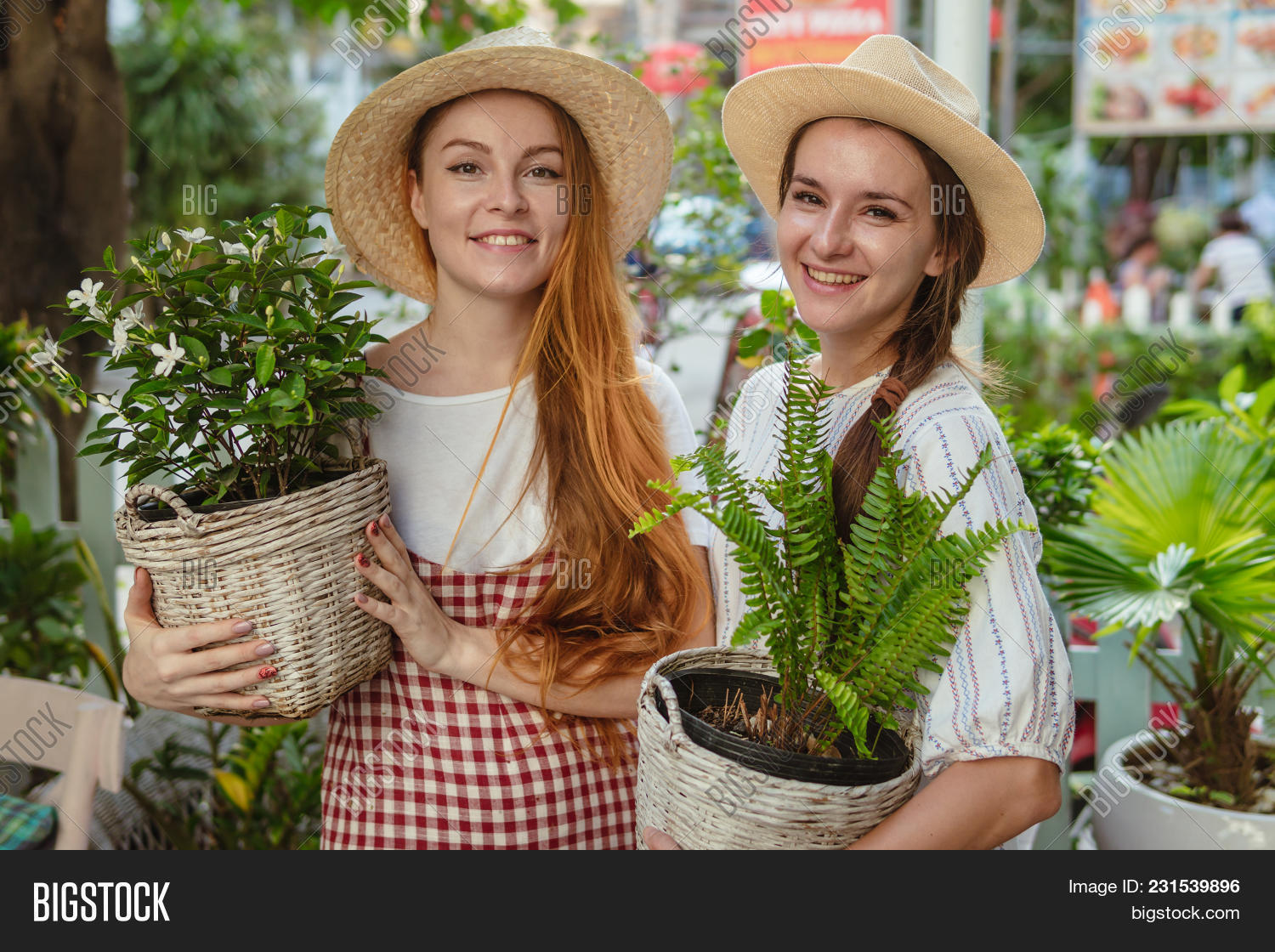 Two Farmer Girls Image & Photo (Free Trial) | Bigstock