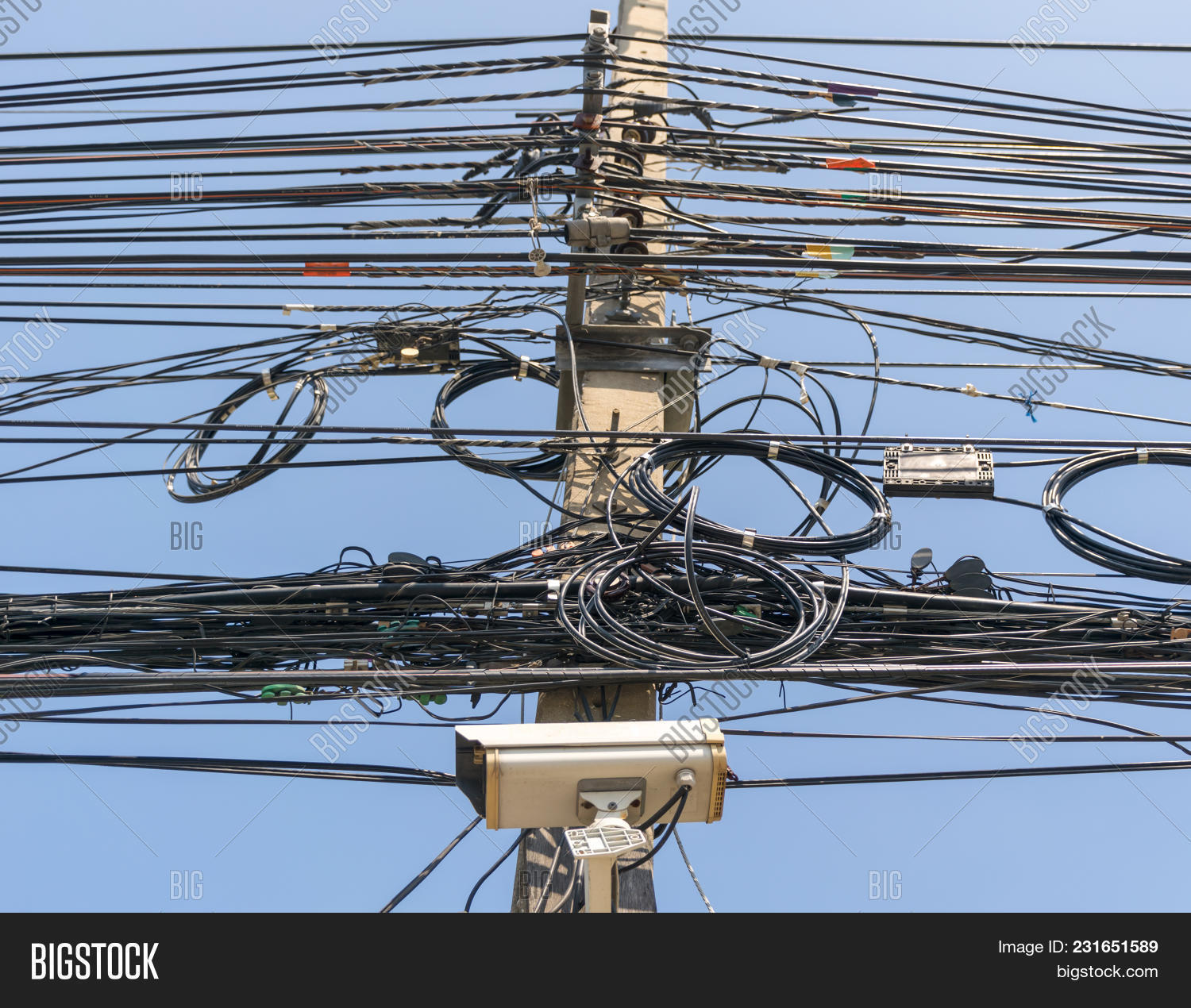Cable Wire Telephone Image Photo Free Trial Bigstock How To A Line On The Power Poles