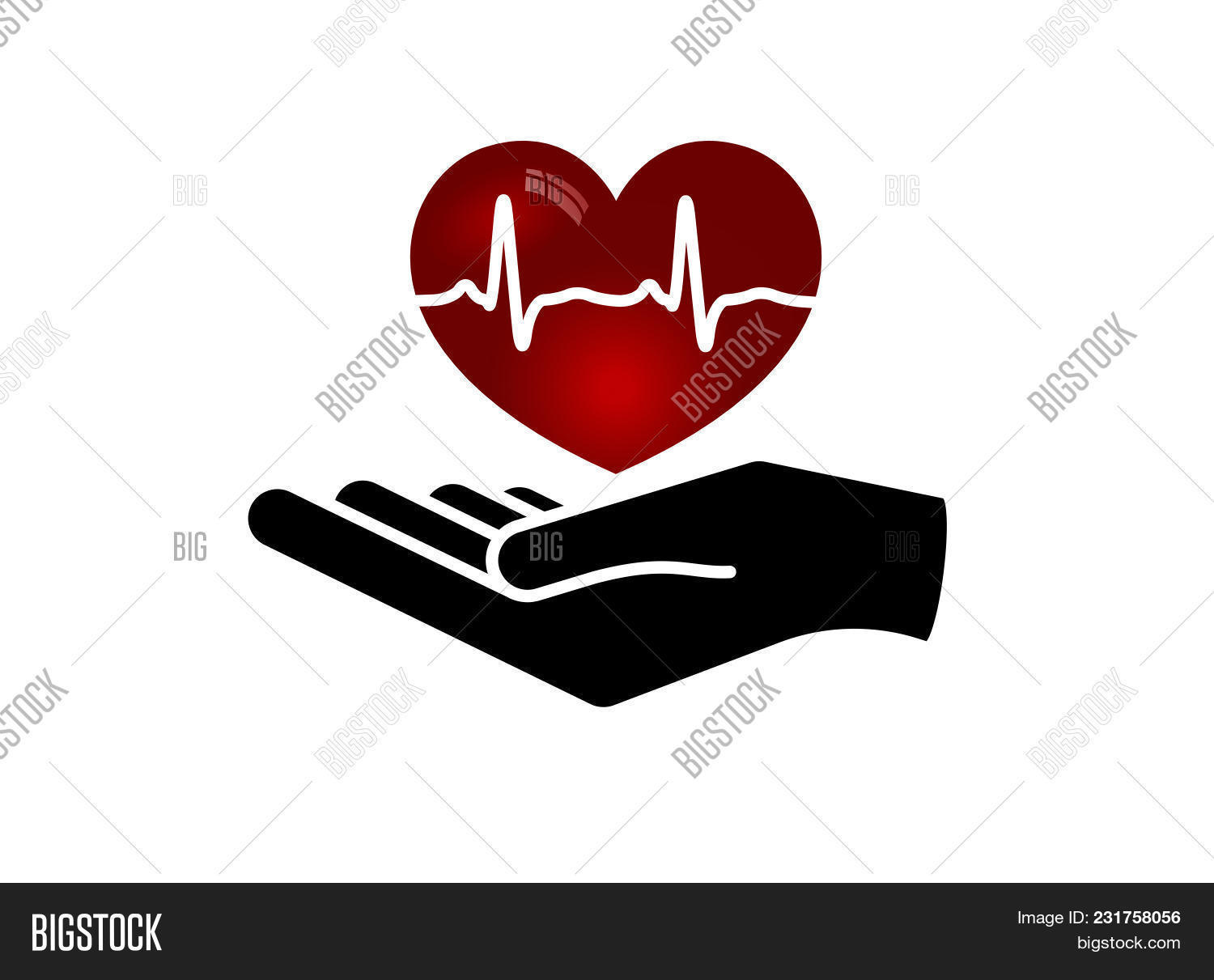 Heart Hand Giving Vector Photo Free Trial Bigstock
