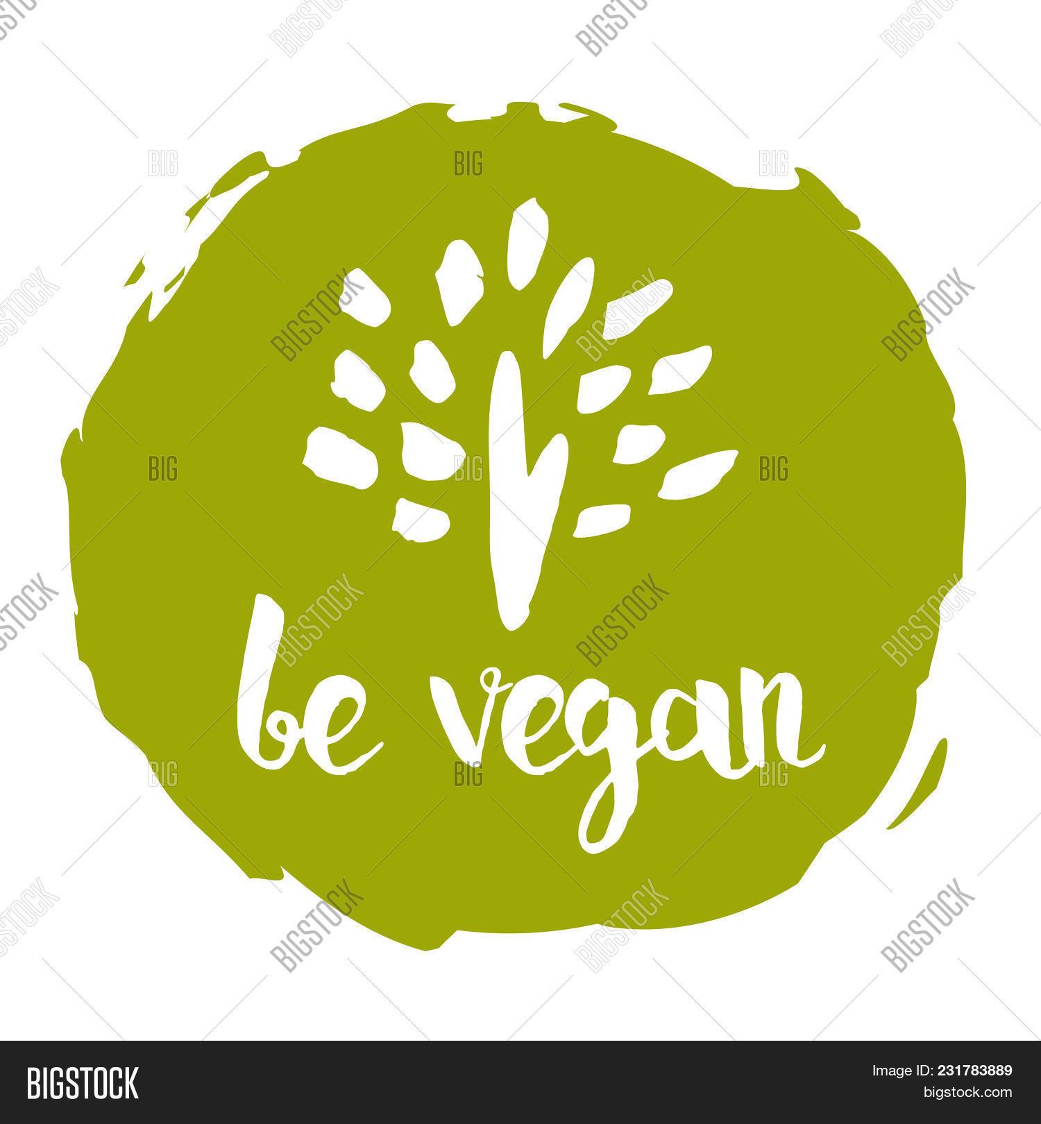 Be Vegan Hand Drawn Image & Photo (Free Trial)   Bigstock