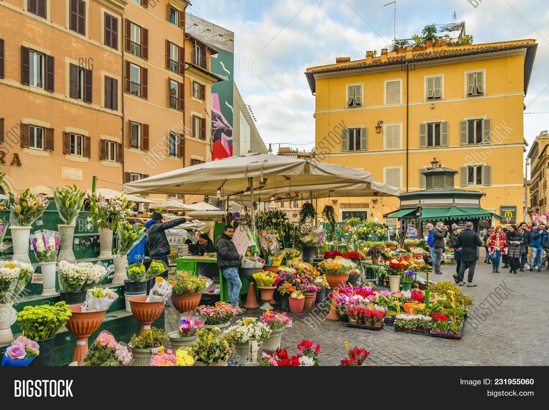 Campo Dei Fiori.Campo Dei Fiori Square Image Photo Free Trial Bigstock