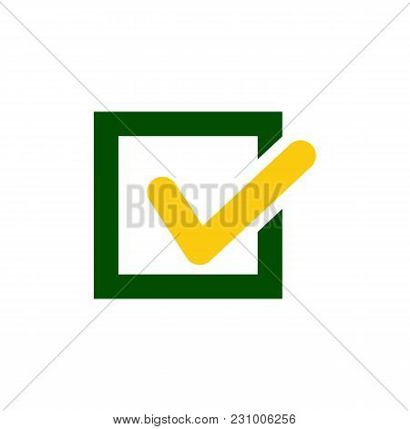 Tick Icon Vector Symbol Green Checkmark Isolated On White Background